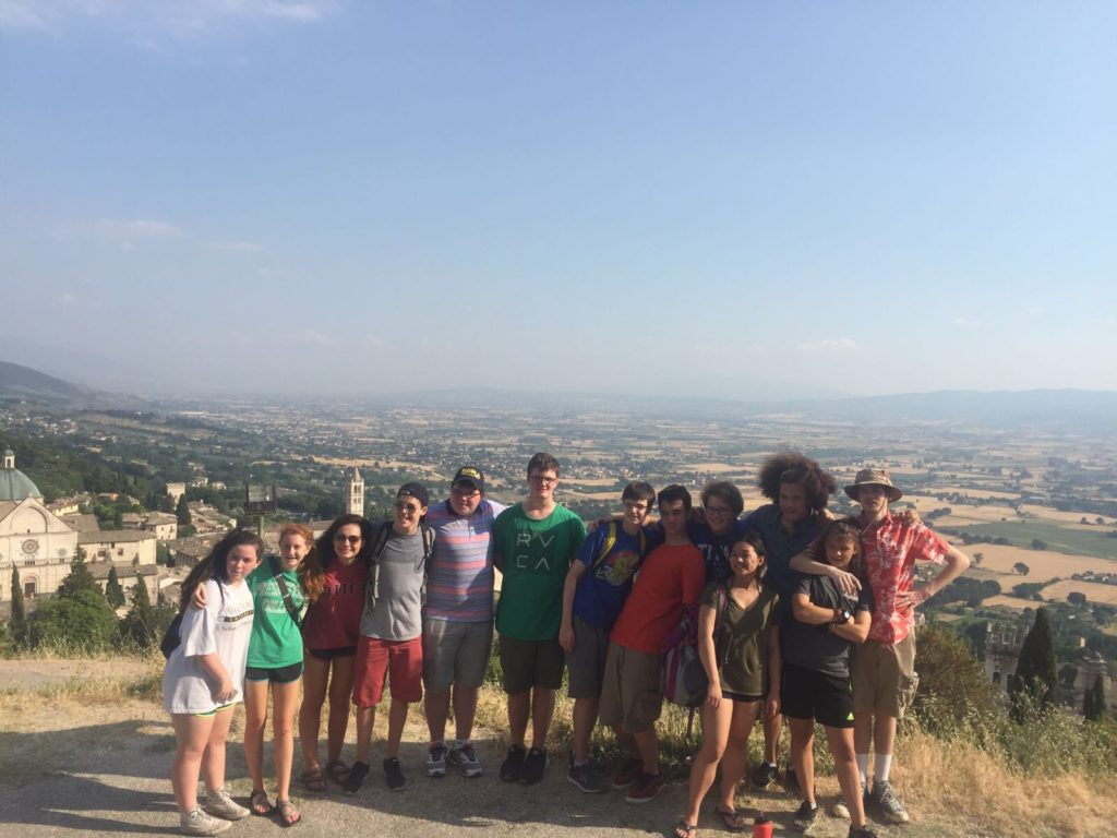 J2A Pilgrims in Assisi